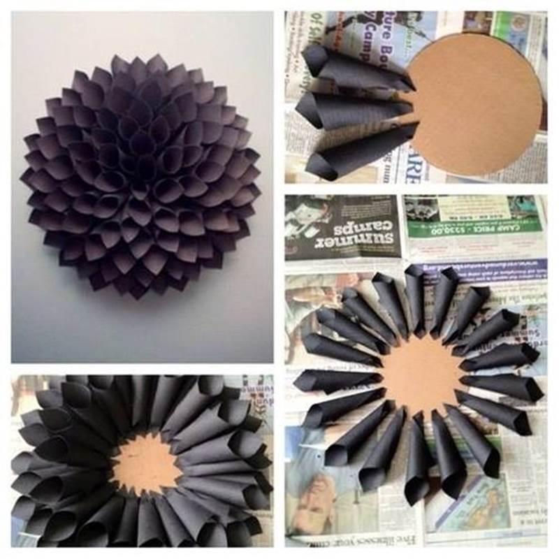 Creative Ideas DIY Easy Paper Dahlia Wreath