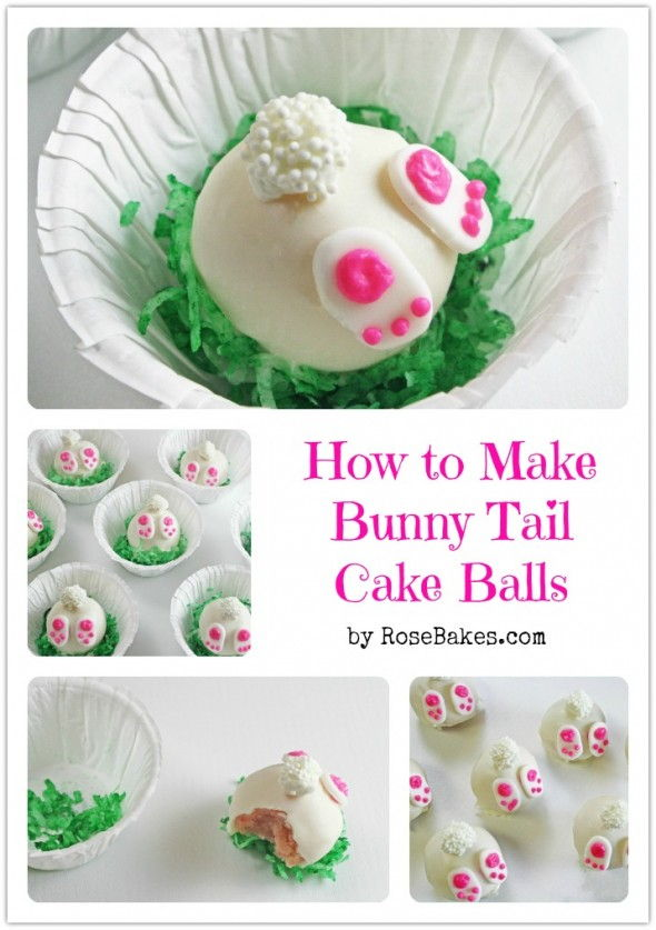 20+ Creative DIY Easter Bunny Cake Recipes --> DIY Bunny Tail Cake Balls