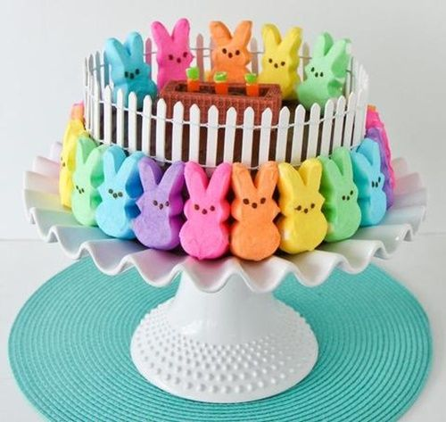 20+ Creative DIY Easter Bunny Cake Recipes --> DIY Easter Peep Cake