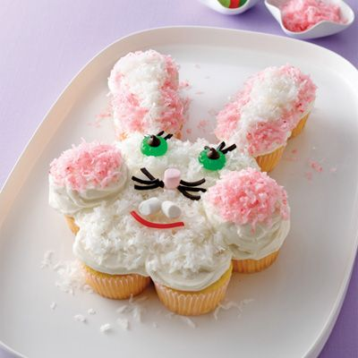 20+ Creative DIY Easter Bunny Cake Recipes --> DIY Pull-apart Bunny Cake