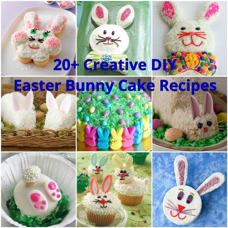20+ Creative DIY Easter Bunny Cake Recipes