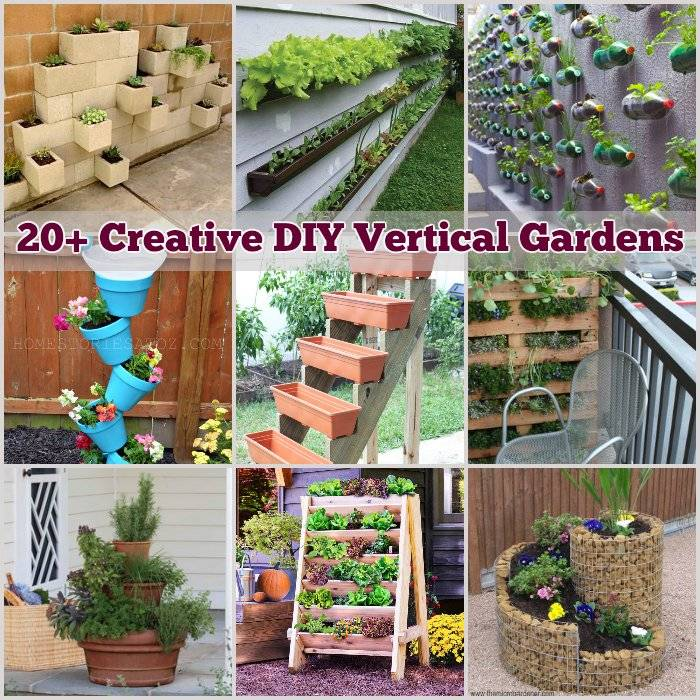 20 creative diy vertical gardens for your home for Home vertical garden
