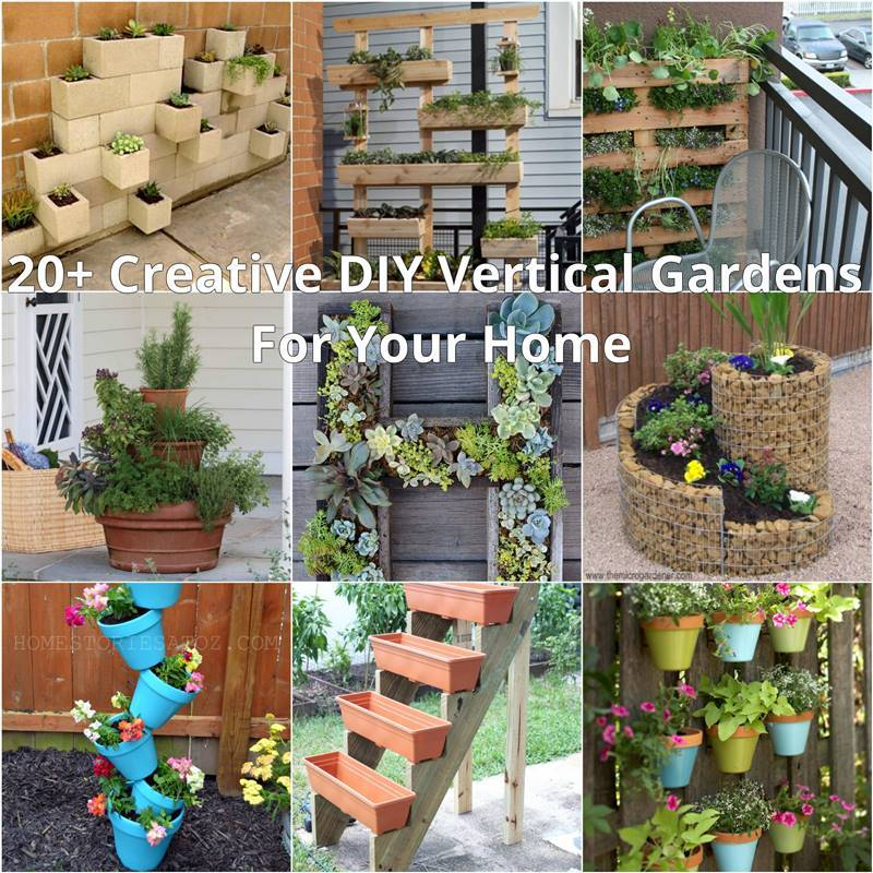 20+ Creative DIY Vertical Gardens For Your Home