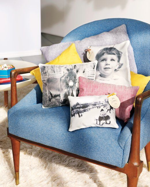 35+ Creative DIY Ways to Display Your Family Photos --> Photo Throw Pillow