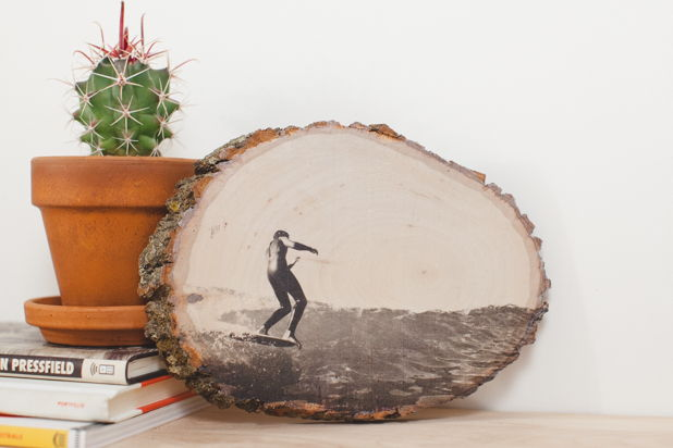 35+ Creative DIY Ways to Display Your Family Photos --> Display Photos on Wood