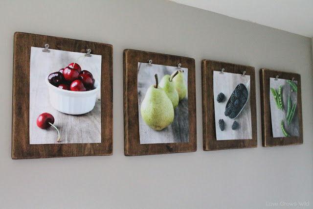 35+ Creative DIY Ways to Display Your Family Photos --> DIY Photo Clipboards