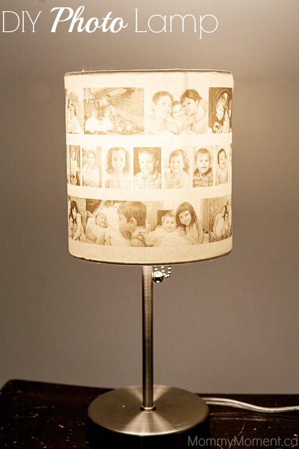 35+ Creative DIY Ways to Display Your Family Photos --> DIY Photo Lamp