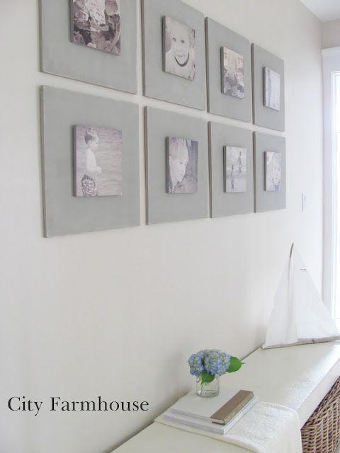 35+ Creative DIY Ways to Display Your Family Photos --> DIY Gallery Wall
