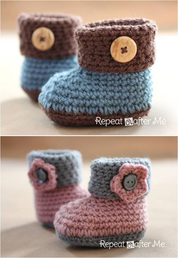 40+ Adorable and FREE Crochet Baby Booties Patterns ...