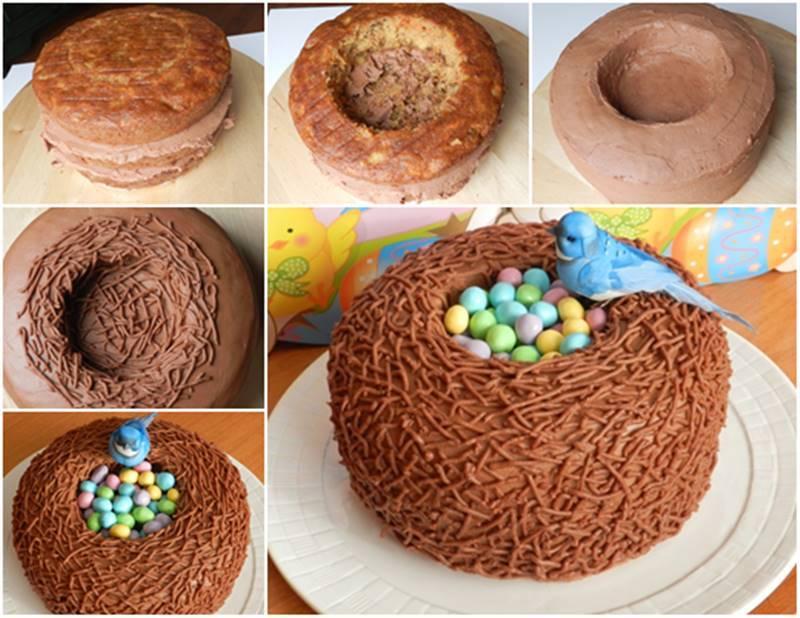 Creative Ideas Diy Easter Bird Nest Cake