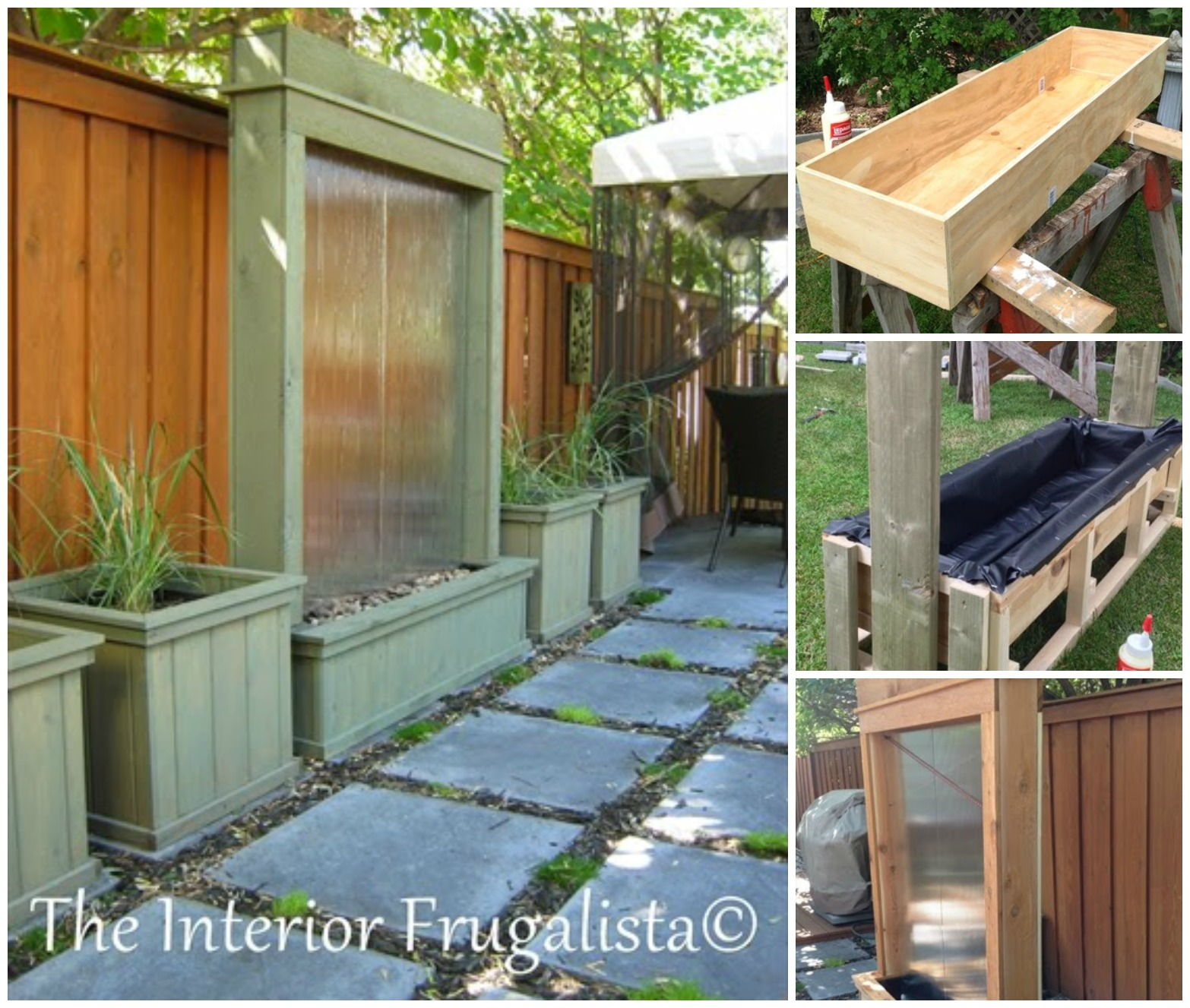 Creatve ideas diy stunning outdoor water wall for How to build an outdoor water feature