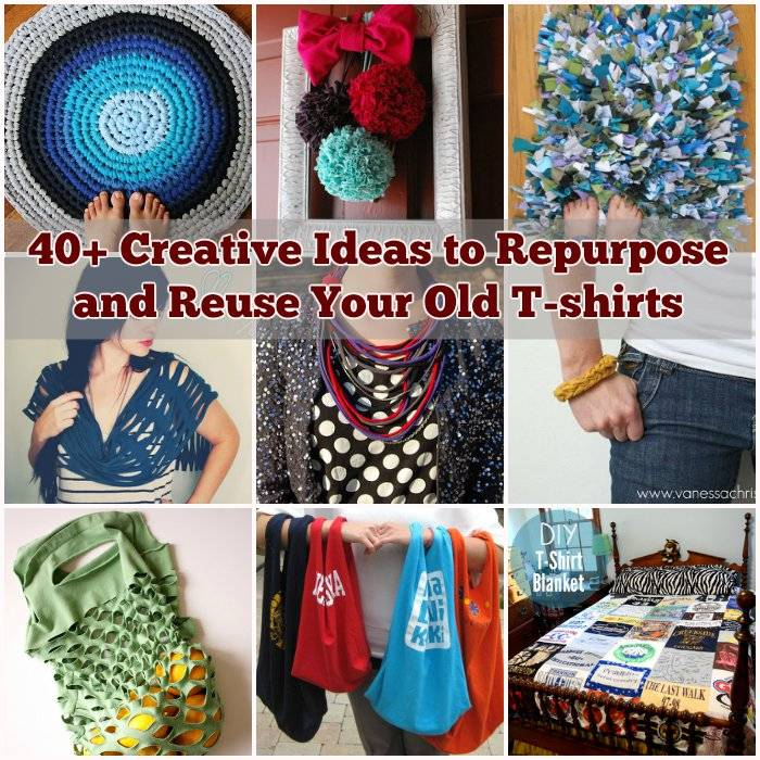 40 creative ideas to repurpose and reuse your old t shirts - Reuse Repurpose