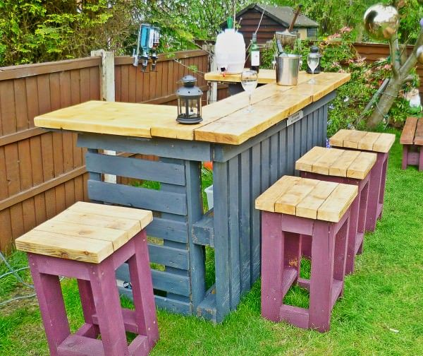 diy bar. 16 Great DIY Ideas for Indoor and Outdoor Wine Bars  Style Motivation