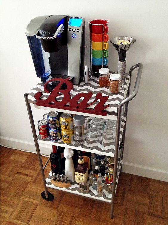 Lighted DIY Wine Bar with DIY wine bottle lamps | Diy ...  |Diy Wine Bar Decor