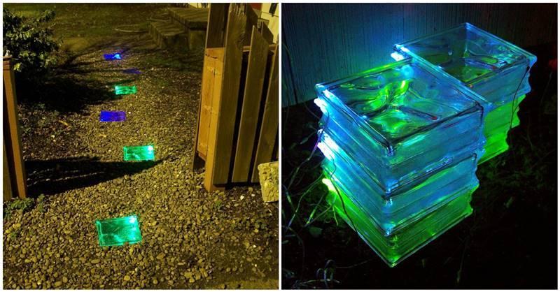 Backyard Garden Tutorial : Creative ideas diy colored solar powered walkway