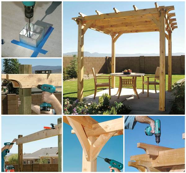 Creative Ideas - DIY Backyard Pergola
