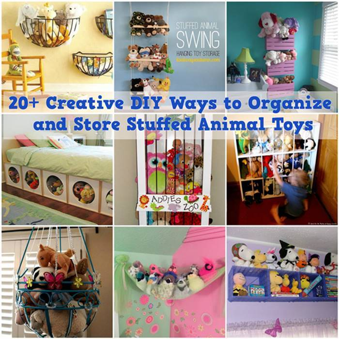 20 Creative Diy Ways To Organize And Store Stuffed Animal