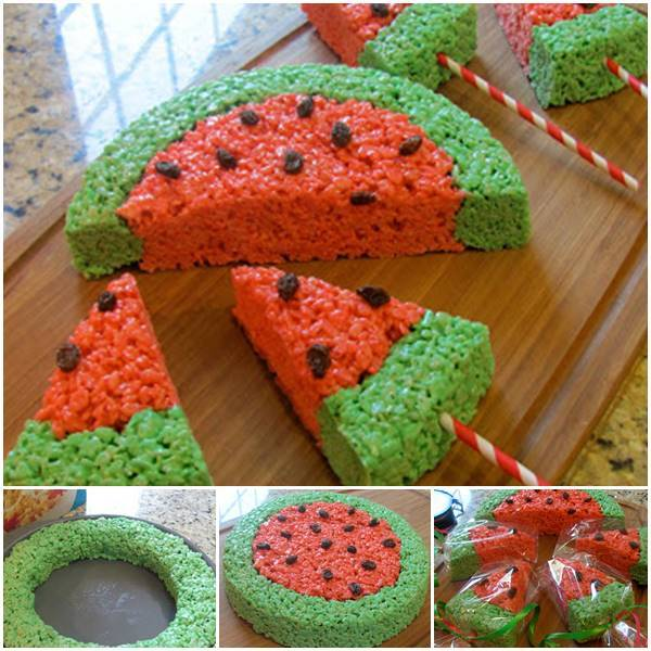 Creative Ideas - DIY Watermelon Rice Krispies