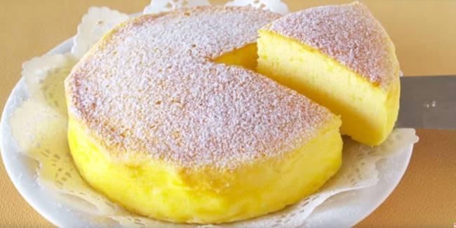 Creative Ideas - DIY Easy 3 Ingredient Soufflé Cheesecake