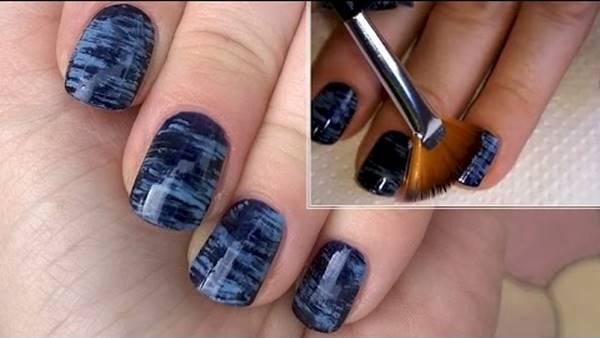 Diy nail art fan brush fan brush nail art my obsession diy nail art fan brush brush a fan with your desired nail polishes across to prinsesfo Choice Image