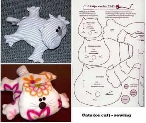 Cat Shaped Pillow Pattern Free