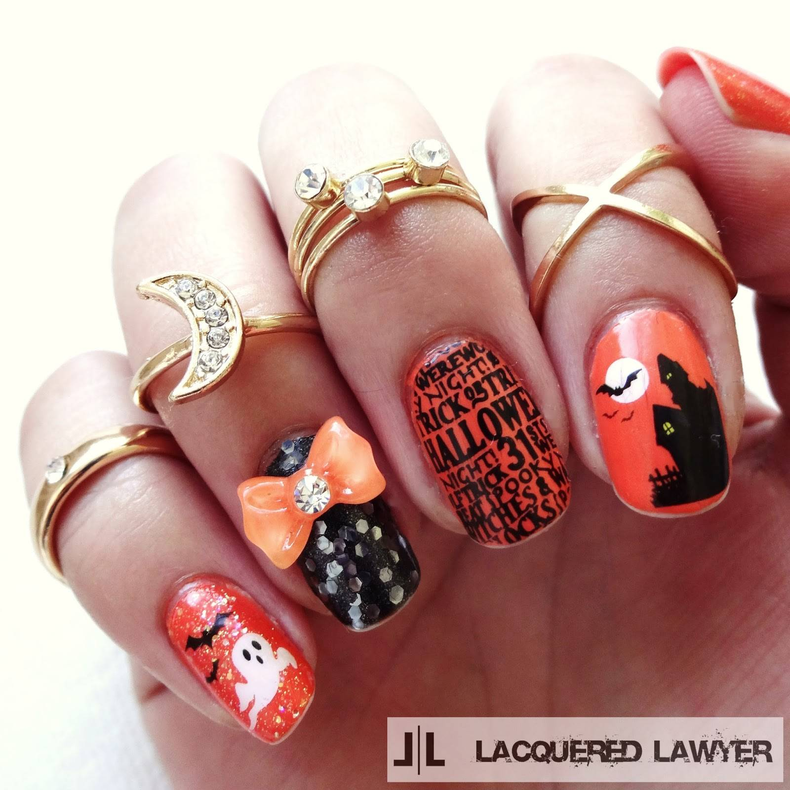 40+ Spooky and Creative DIY Halloween Nail Art Ideas --> Halloween Nail Art