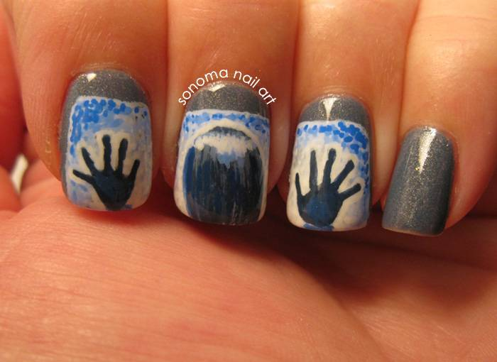 40+ Spooky and Creative DIY Halloween Nail Art Ideas --> Horror Movie Halloween Nails
