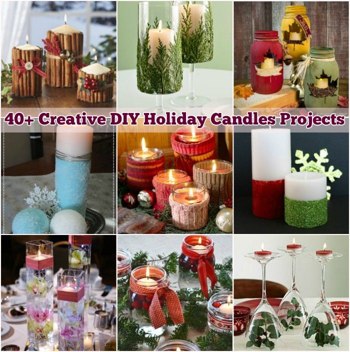 40+ Creative DIY Holiday Candles Projects