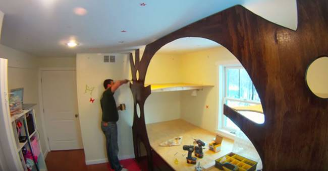 Kids Bedroom Tree House ideas - diy transform kid's bedroom into a treehouse