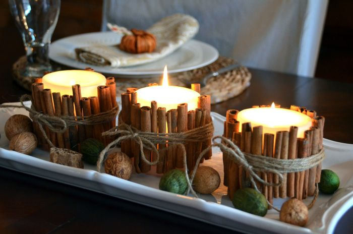 40+ Creative DIY Holiday Candles Projects --> Cinnamon Stick Candles