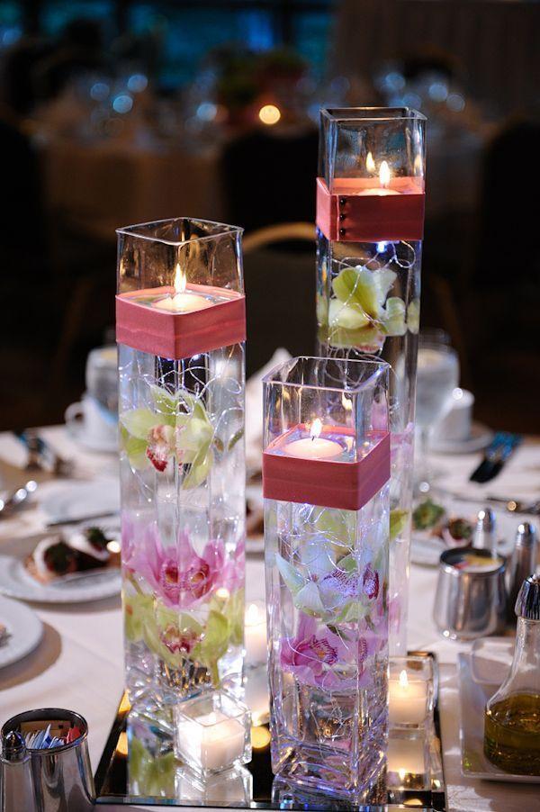 40+ творческий DIY праздничные свечи проекты --> плавающие свечи с центральным цветком