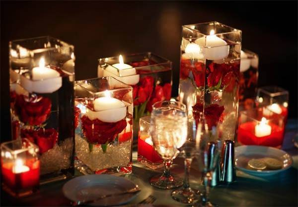 Christmas Floating Candles.40 Creative Diy Holiday Candles Projects