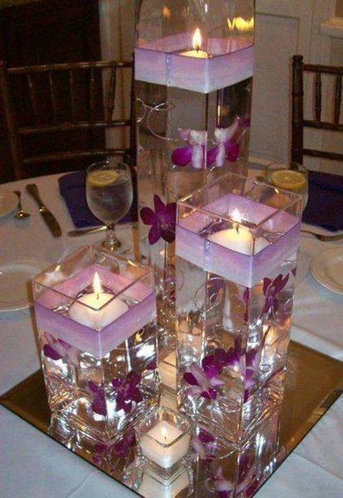 40 creative diy holiday candles projects for Creative candle centerpiece ideas