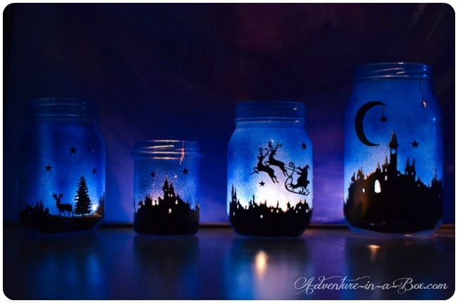 40+ Creative DIY Holiday Candles Projects --> Magical Christmas lanterns