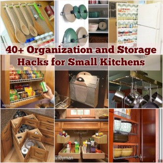 Creative ideas and diy projects to for Small kitchen organization hacks