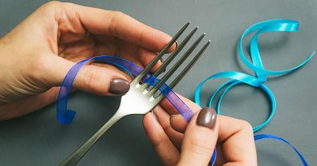 Creative Ideas - DIY Tiny Bow on a Fork