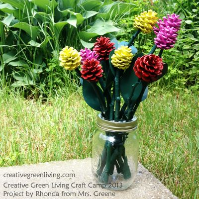40+ Creative Pinecone Crafts for Your Holiday Decorations --> Pinecone Roses