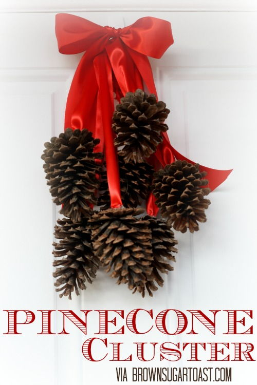 40+ Creative Pinecone Crafts for Your Holiday Decorations --> Pottery Barn Inspired Pinecone Cluster