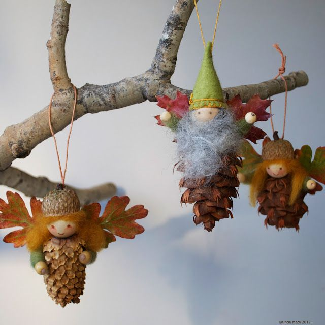 40+ Creative Pinecone Crafts for Your Holiday Decorations --> Pinecone Fairy Ornaments