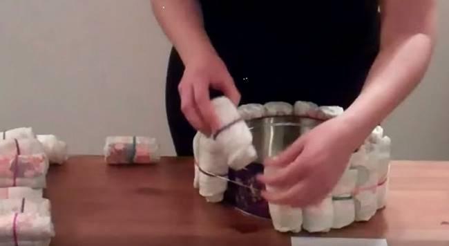 creative ideas  diy nappy cake baby gift  i creative ideas, Baby shower invitation