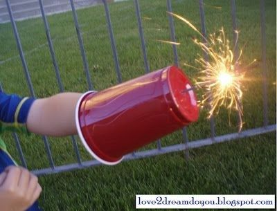 30+ Brilliant Mom Hacks That Will Make Your Life Easier --> Use a plastic cup to keep the little hands safe when they are playing sparklers.
