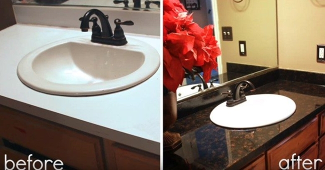 Creative Ideas How To Refinish Laminate Counters And Make It Look Like Granite