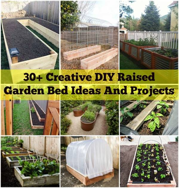 10 Creative Vegetable Garden Ideas: 30+ Creative DIY Raised Garden Bed Ideas And Projects