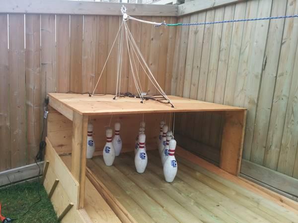 Creative Ideas - DIY Backyard Bowling Alley