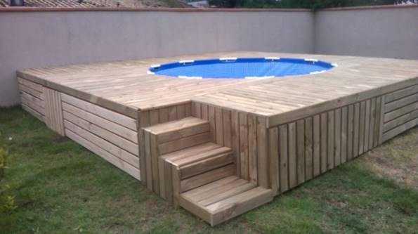 how to build a pallet deck on uneven ground