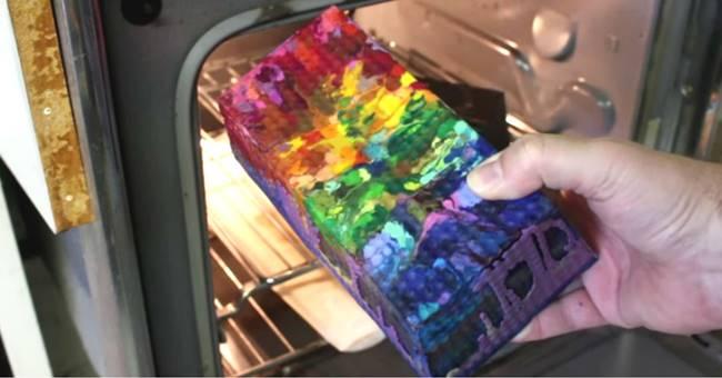 Creative Ideas - DIY Rainbow Crayon Vase