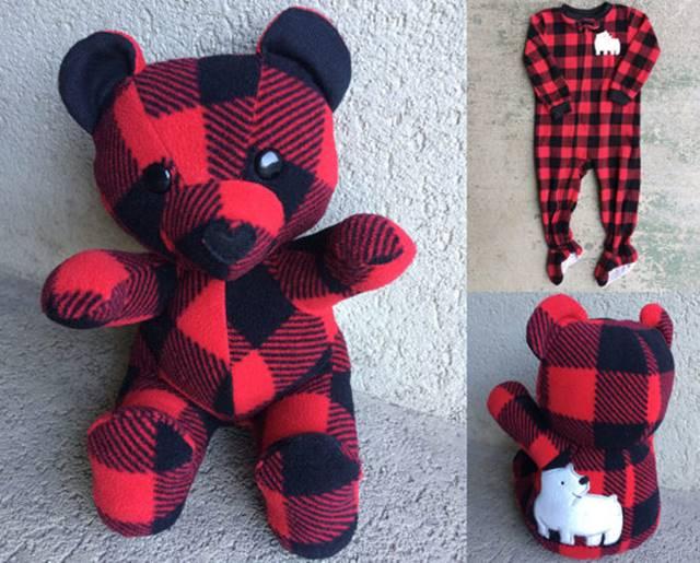 Creative Ideas – Turn Outgrown Baby Clothes Into Keepsake Teddy Bears