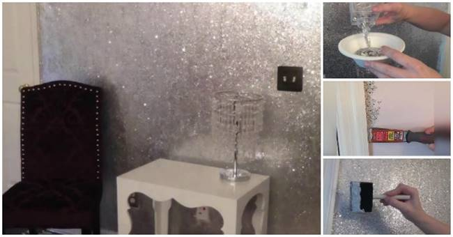 Creative Ideas Diy Amazing Glitter Walls