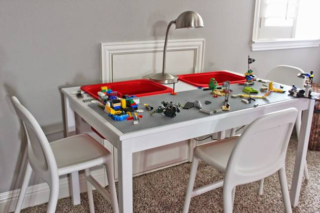 Creative ideas how to transform an ikea table into a for Table lego ikea