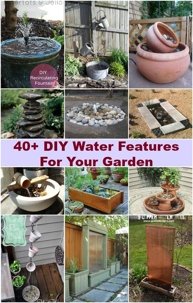 40 Creative DIY Water Features For Your Garden i Creative Ideas